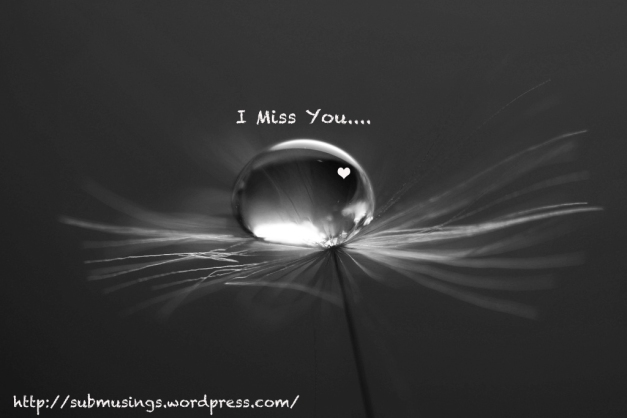 Miss You Water Droplet